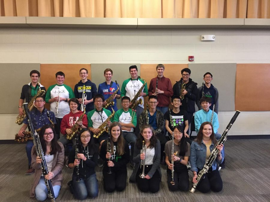 Accepted students and alternates in West High Bands.