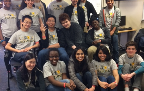 The West High Science Olympiad team poses at Coe College. The annual competition was held on April 7th.