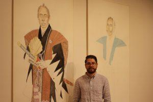 Diego Lasansky carves a piece of history