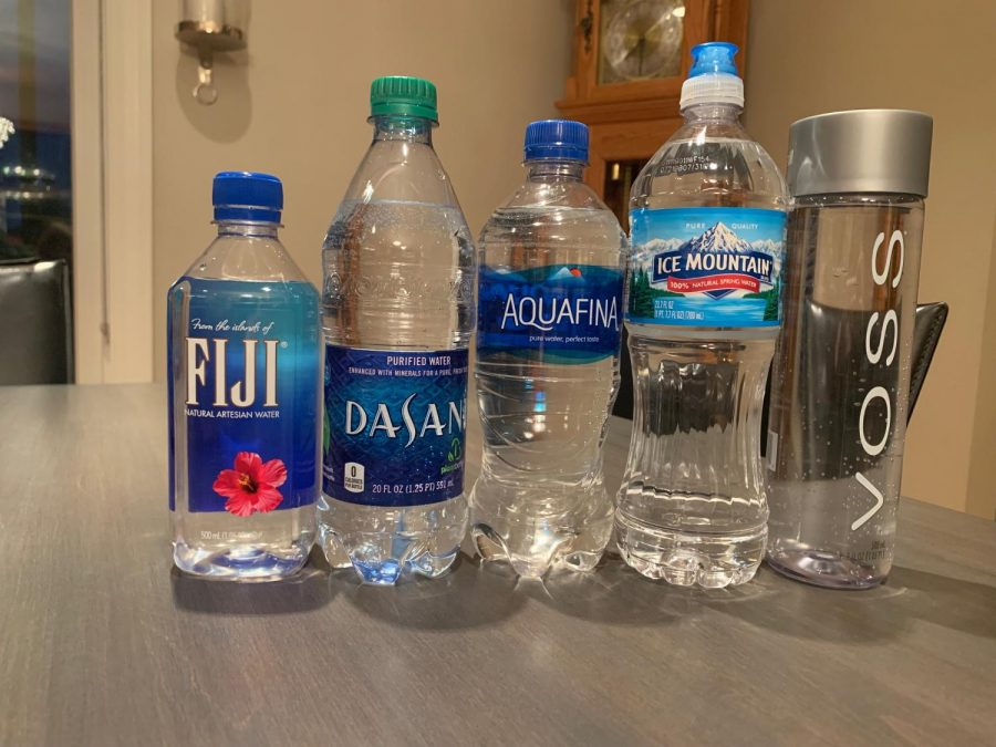 Bottled waters in order from my favorite to least favorite.
