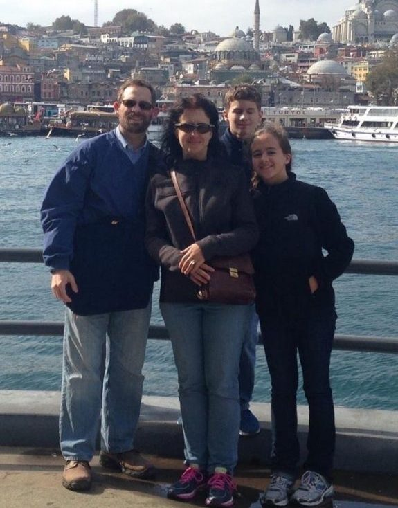Rebecca+Hassell+%28far+right%29%2C+in+Turkey+with+family