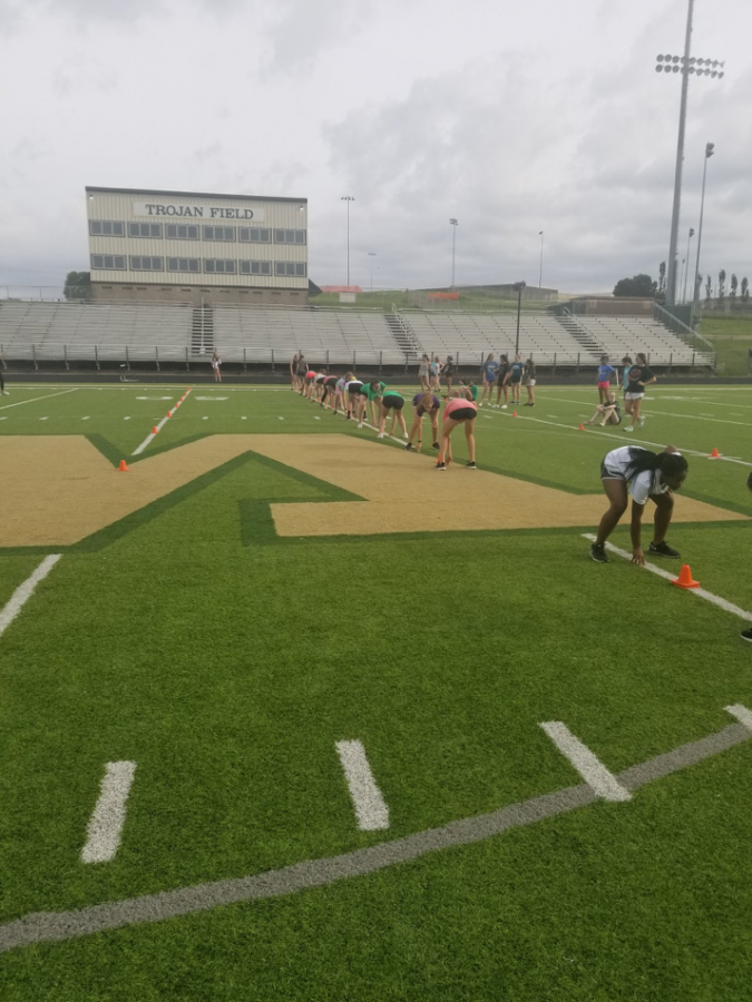 Student athletes participating in the summer Speed and Agility program