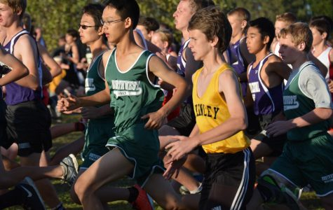 Chen-You Wu '20 speeds toward the finish line at the MCV divisional race in 2015
