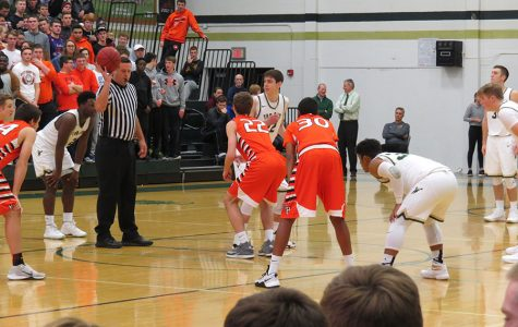 The Varsity  basketball teams of West and Prairie play at West High in January 2017.