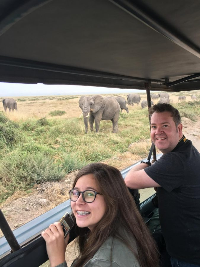 Mascardo on a safari in Amboseli National Park
