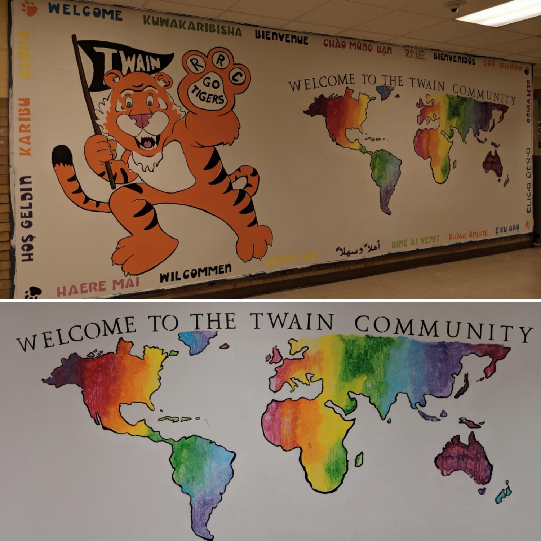 Carolina+Kaufman%27s+murals+at+Mark+Twain+Elementary+School.